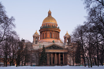 St. Isaac's Cathedral. Saint Petersburg Sunny day