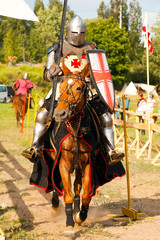 VYBORG, RUSSIA: Tournament during the medieval festival. Festival is taking place every year in Vyborg, Russia.