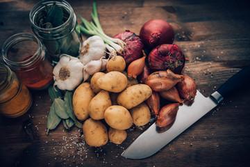 Food Stilll LIfe Flavorful Ingredients