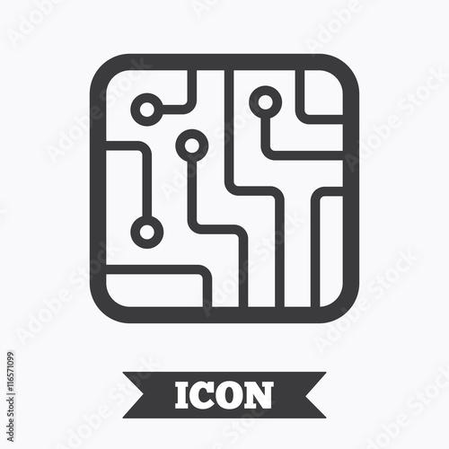 u0026quot circuit board sign icon  technology symbol  u0026quot  stock image
