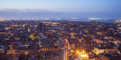 Printed kitchen splashbacks Barcelona General view of Venice from above at sunset