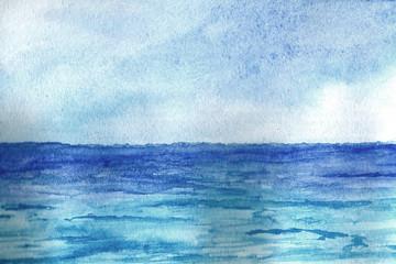 Ocean in watercolor