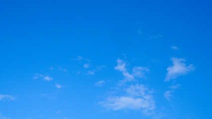 White cloud and blue sky background