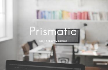 Prismatic Colored Multicolored Colorful Design Concept