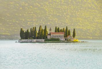 St.George Island near Perast in Bay of Kotor, Montenegro