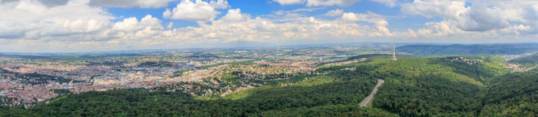 Blick vom Fernsehturm auf Stuttgart