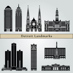 Detroit landmarks and monuments