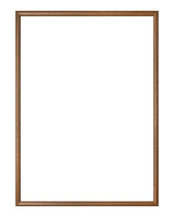 Wooden picture frame with clipping path
