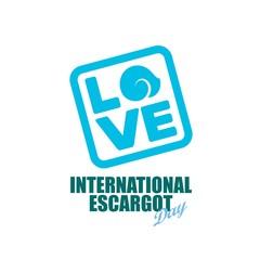 International escargot day. Vector illustration. Great for greeting card