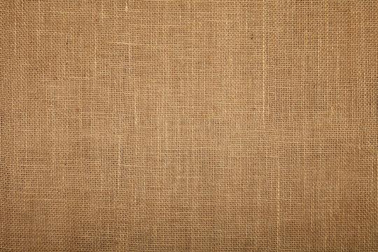Brown burlap jute canvas texture background