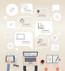 infographic of modern creative office