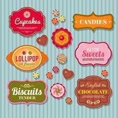 Sweetshop retro badges