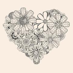 heart shape pattern