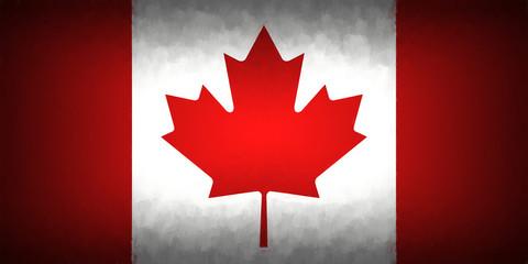 Flag Of Canada Vignette