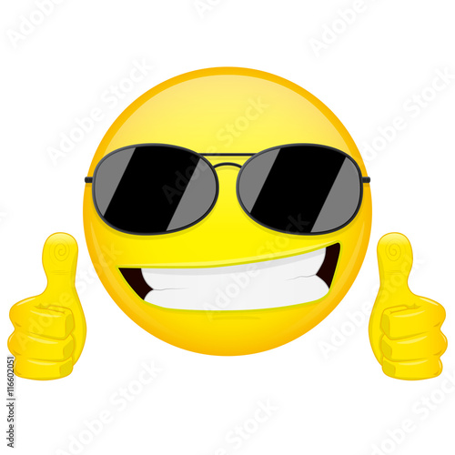 good idea emoji thumbs up emotion cool guy with sunglasses