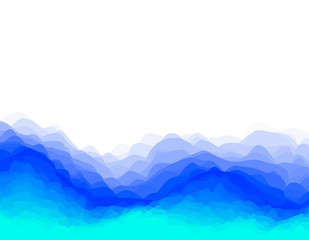 Abstract layered wave background.Vector illustration.