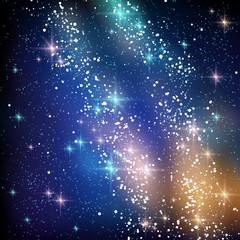 Milky Way Galaxy in Black Night Sky