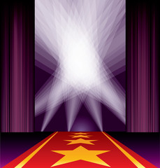 purple carpet spots stars