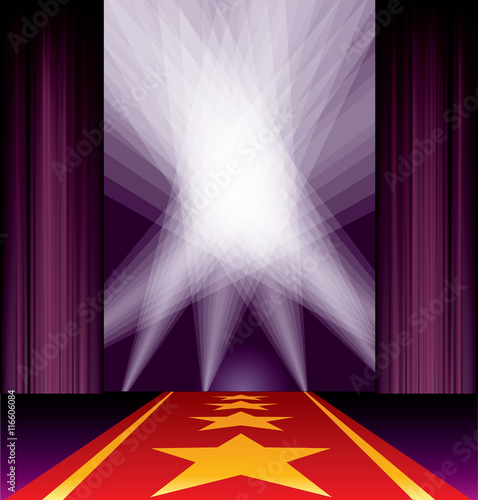 Purple Carpet Spots Stars Stock Image And Royalty Free