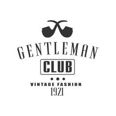 Vintage Gentleman Club Label Design