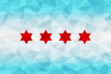 Chicago flag polygonal