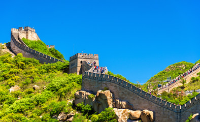 Tuinposter Chinese Muur View of the Great Wall at Badaling - China