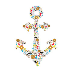 You are my anchor. Cute navy illustration for holidays. Card for Valentines Day, Wedding. Typographical Background. Beach. Summer. Marine. Vacation.