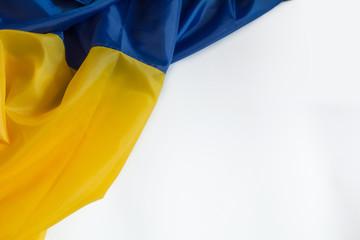 Ukrainian flag on a white background