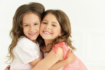 cute little girls posing