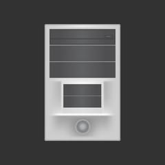 Computer desktop case