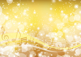 music wavy background gold