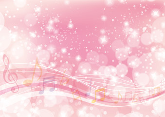 music wavy background pink