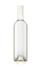 mockup realistic transparent water wine vodka isolated bottle vector