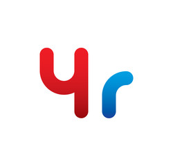 4r logo initial blue and red