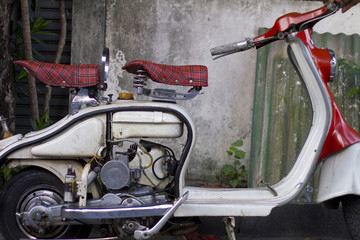old moped
