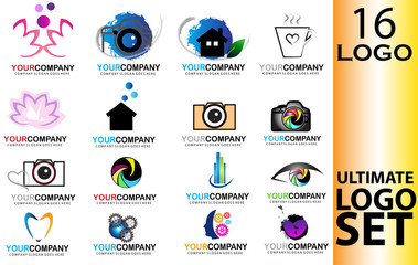 Different icons logo vector