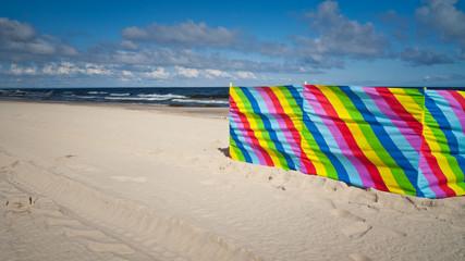 Parawan na plaży