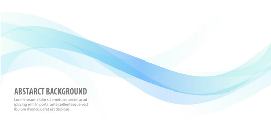 abstract blue line wave background
