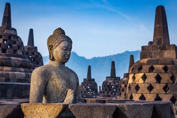 Papiers peints Edifice religieux Buddha statue in Borobudur Temple, Java island, Indonesia.