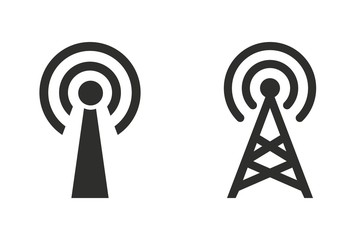 Communication tower - vector icon. Wall mural