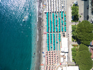 Top View of Maiori, Amalfi coast, Italy