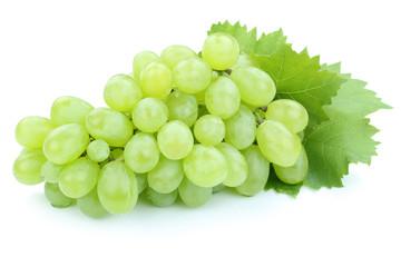 Trauben Weintrauben grün Früchte Obst Freisteller freigestellt