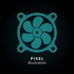 Fan - pixel illustration.