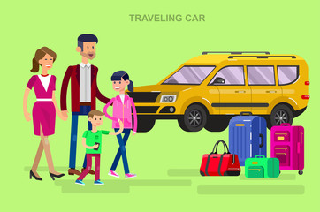 Family summer holiday travel