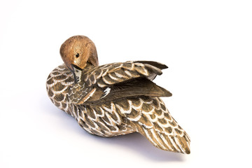 A China Porcelain Bird Duck Isolated