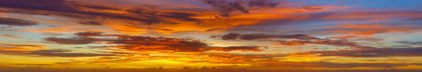 Panoramic photos of sky at sunset - Thailand