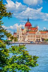 Printed kitchen splashbacks Budapest Hungarian parliament building in budapest