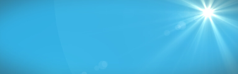 Sunny blue sky panorama