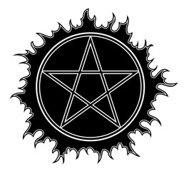 Pentagram vector icon.