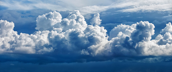 Large cumulus cloud - a panoramic photo